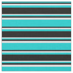 [ Thumbnail: Dark Turquoise, Black & Lavender Pattern Fabric ]