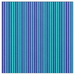 [ Thumbnail: Dark Turquoise & Blue Colored Stripes Fabric ]