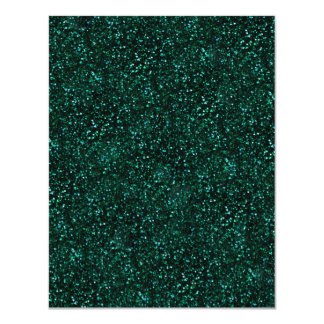 Dark Turquoise Blue Green Glitter Card