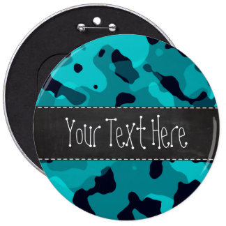 Dark Turquoise Camo; Chalkboard look Button