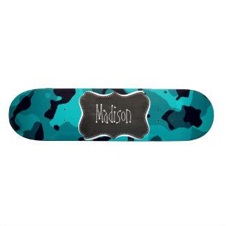 Dark Turquoise Camo; Chalkboard look Skate Boards