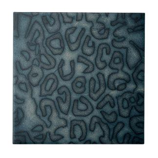 Dark Turquoise Cheetah Abstract Ceramic Tile