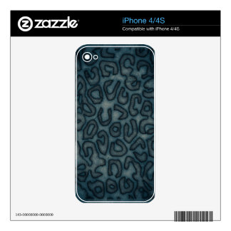 Dark Turquoise Cheetah Abstract Decal For The iPhone 4S