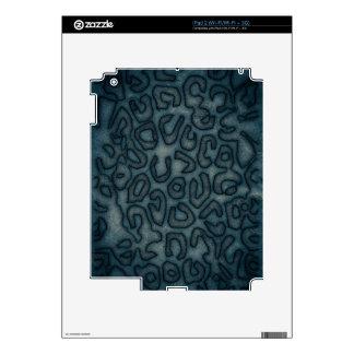 Dark Turquoise Cheetah Abstract iPad 2 Decals