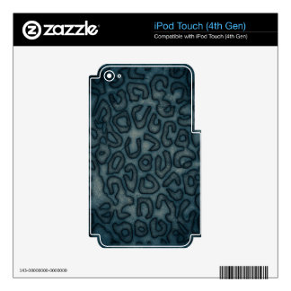 Dark Turquoise Cheetah Abstract iPod Touch 4G Decals