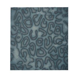 Dark Turquoise Cheetah Abstract Notepad