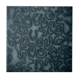 Dark Turquoise Cheetah Abstract Tile