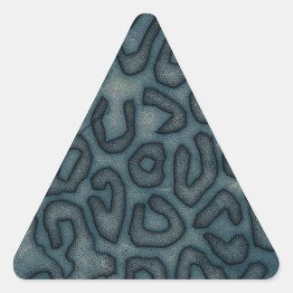 Dark Turquoise Cheetah Abstract Triangle Sticker