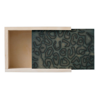 Dark Turquoise Cheetah Abstract Wooden Keepsake Box