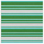[ Thumbnail: Dark Turquoise, Dark Green & Light Grey Lines Fabric ]