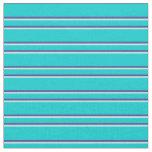 [ Thumbnail: Dark Turquoise, Dark Slate Blue & Turquoise Lines Fabric ]