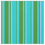 [ Thumbnail: Dark Turquoise, Forest Green, and Light Sky Blue Fabric ]