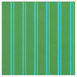 [ Thumbnail: Dark Turquoise & Forest Green Stripes Fabric ]