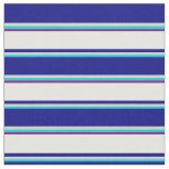 [ Thumbnail: Dark Turquoise, Grey, Blue, Mint Cream & Purple Fabric ]