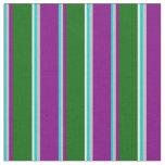 [ Thumbnail: Dark Turquoise, Grey, Purple, Green & Light Cyan Fabric ]