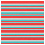 [ Thumbnail: Dark Turquoise, Light Gray, and Red Pattern Fabric ]