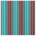 [ Thumbnail: Dark Turquoise & Maroon Colored Pattern Fabric ]