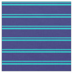 [ Thumbnail: Dark Turquoise & Midnight Blue Pattern Fabric ]