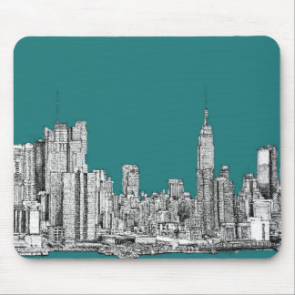 Dark turquoise NYC Mouse Pad
