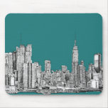 Dark turquoise NYC Mouse Pads
