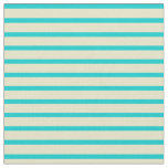 [ Thumbnail: Dark Turquoise & Pale Goldenrod Colored Pattern Fabric ]