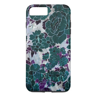 Dark Turquoise Purple Rose Texure iPhone 8 Plus/7 Plus Case