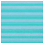 [ Thumbnail: Dark Turquoise & Sky Blue Colored Stripes Fabric ]