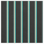 [ Thumbnail: Dark Turquoise, Tan, Dark Slate Gray, and Black Fabric ]