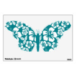 Dark Turquoise Tropical Hibiscus Wall Sticker