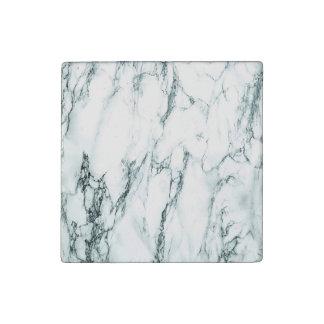 Dark Turquoise Vein Marble Look Stone Magnet