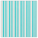[ Thumbnail: Dark Turquoise & White Colored Pattern Fabric ]