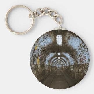 Dark underground tunnel keychain