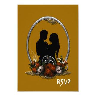 Dark Union Vampire Goth Wedding 3.5x5 Paper Invitation Card