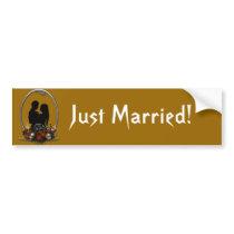 Dark Union Vampire Goth Wedding Bumper Sticker