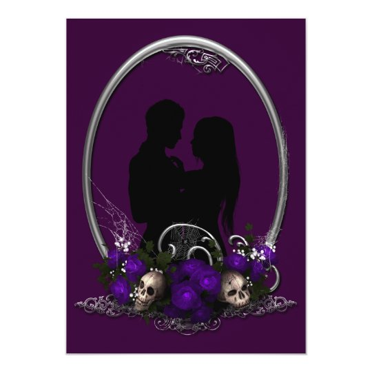 Dark Union Vampire Goth Wedding Card