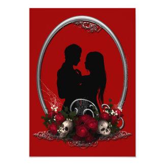 Dark Union Vampire Goth Wedding Card