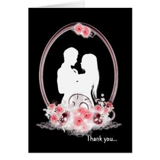 Dark Union Vampire Goth Wedding Thank You Card