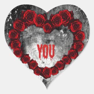 Dark Valentine Heart Sticker