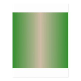 Dark Vanilla and Forest Green Gradient Postcard