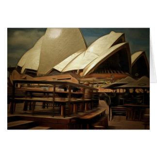 Dark view of Sydney Opera house Stationery Note Card