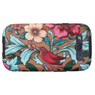 Dark Vintage Floral Fabric Bird Android Case Galaxy S3 Cases