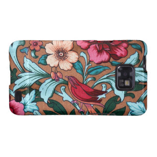 Dark Vintage Floral Fabric Bird Android Case Galaxy SII Cover