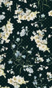 Dark Vintage Flower Wallpaper Pattern Case For IPhone SE 5 5s