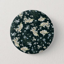 Dark vintage flower wallpaper pattern pinback button