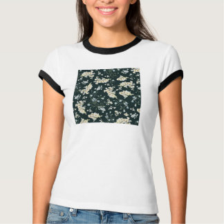 Dark vintage flower wallpaper pattern T-Shirt