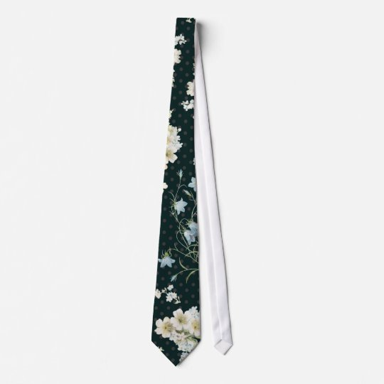 Dark vintage flower wallpaper pattern tie