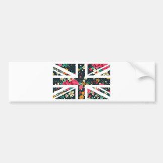 Dark Vintage Rose Union Jack British(UK) Flag Bumper Sticker
