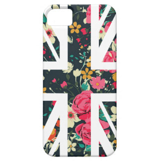 Dark Vintage Rose Union Jack British(UK) Flag iPhone SE/5/5s Case