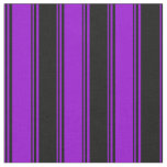 [ Thumbnail: Dark Violet and Black Colored Lines Fabric ]