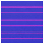 [ Thumbnail: Dark Violet and Blue Lines Pattern Fabric ]